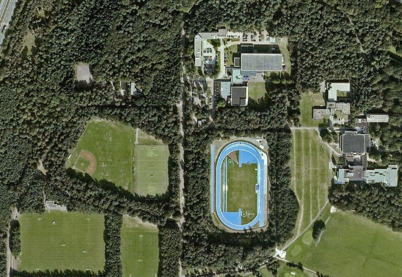 Sportcomplex Papendal bovenaanzicht google maps