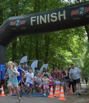 wodanrun kinderen over de finish