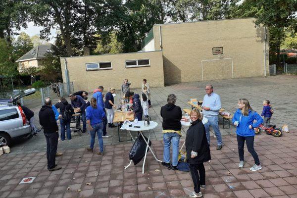 Nestkastjes bouwen bij Burendag 2020 in Wolfheze